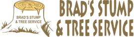 Brad's stump and tree service logo
